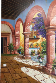 Los Arcos 59'' Oil Painting