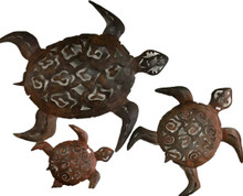 Metal Wall Turtles - Set of 3