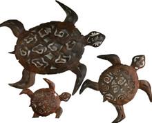 Metal Wall Turtles - Set of 3