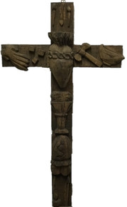 Clavos 36'' Hand Carved Cross