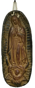 Virgen Hanging Plaque - Oval