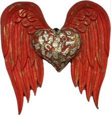 Milagros Red Heart with Wings