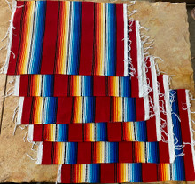 Red Sarape Placemats - Set of 6