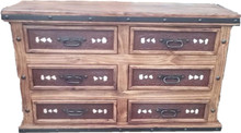 Jalisco Dresser w/ Two Tone Leather ** SALE 25% OFF, 1 LEFT AT THIS PRICE