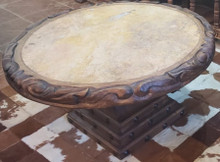 Gitana Carved Coffee Table w/ Marble Top