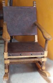 Jimenez Rocking Chair w/ Tooled Leather