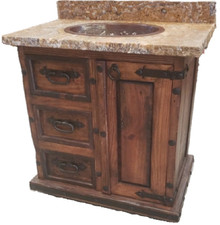 Alvarado Sink Cabinet w/ Copper Sink & Onix Stone Top