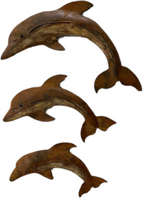 Metal Dolphin - Set of 3