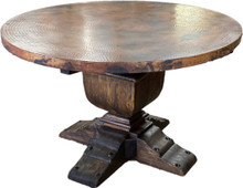 Andrade Round Copper Top Dining Table