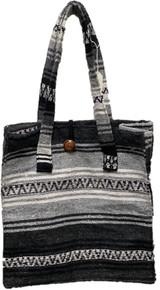 Button Top Grey Falza Blanket Bag