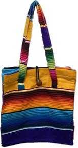 Button Top Sarape Blanket Bag