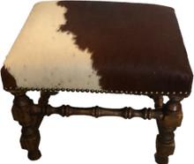 Cowhide Ottoman Bench