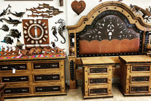Jalisco King w/ Tooled Leather 4pc Bedroom Set ** SALE 30% OFF, 1 SET LEFT AT THIS PRICE