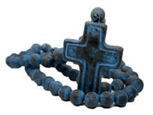 Clay Rosary - Dark Blue