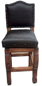 Camila Swivel Barstool w/ Leather