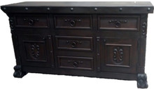 Alamo Carved Buffet - Dark Finish