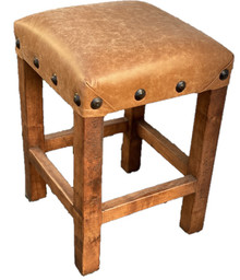 Mesquite Counter Stool w/ Rustica Leather