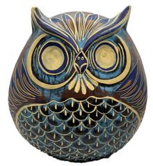Owl Planter - Blue