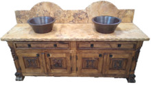 Leon 72'' Full Marble Top Sink Cabinet