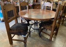 Caracol 5pc Dining Set w/ Cowhide
