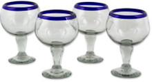 Chavela Glasses w/ Blue Rim - Set of 4