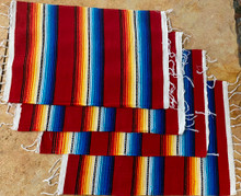 Red Sarape Placemats - Set of 4