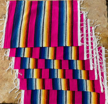 Pink Sarape Placemats - Set of 6
