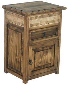 Rope Nightstand w/ Marble Open Right