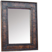 Hacienda 48'' Mirror w/ Copper