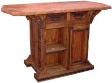 Hacienda Marble Top Kitchen Island