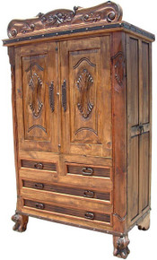 Alamo Carved Armoire