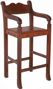 Sirca Mesquite Barstool w/ Leather