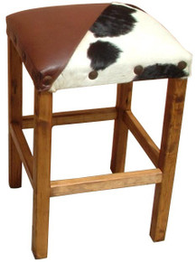 Leather & Hide Counter Stool