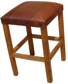 Leather Top Counter Stool