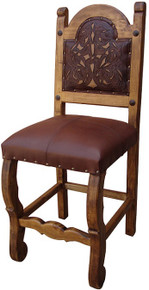 Rocio Tooled Leather Barstool