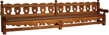 San Luis 12ft Bench w/ Leather