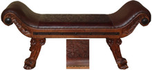 Romana Tooled Leather Bench