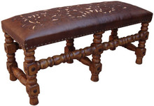 Tooled Leather D Bench