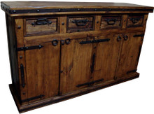 Hacienda 4 Drawer Buffet