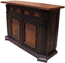 Colonial 2 Door Copper Top Buffet