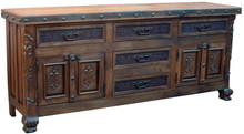 Mesquite 72'' Tooled Leather Buffet