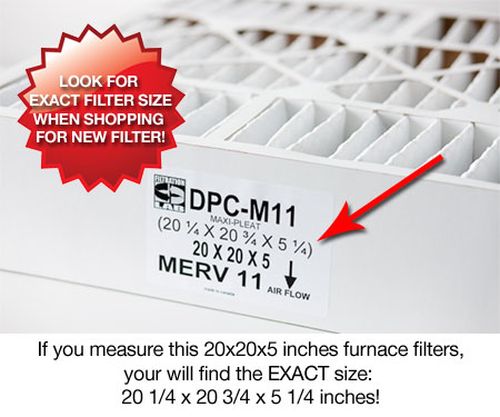 furnace filters sizes