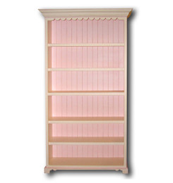 French Scallop Bookcase