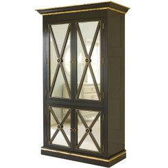 Regency Armoire in Black w/Gold Gilding
