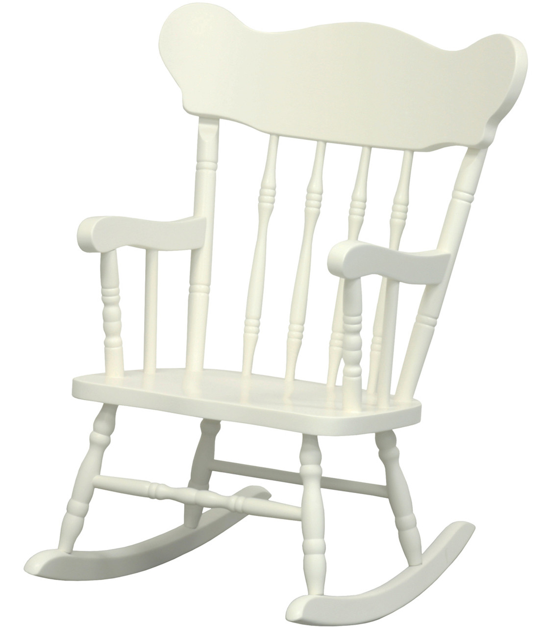 Terrific Childs Rocking Chair In Antico White Machost Co Dining Chair Design Ideas Machostcouk