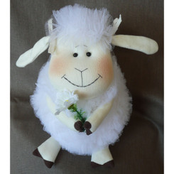 Sheep: Sweet Samantha with a Flower