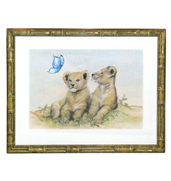 Peter's Lion Cubs - An Original Watercolor