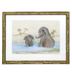 Peter's Elephant Mother and Baby - An Original Watercolor