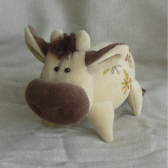New Designs: Bull w/Flower Embroidery