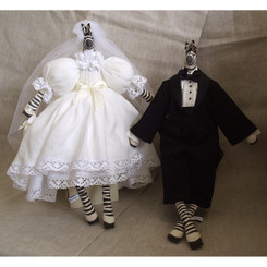 Zebra: Bride & Groom